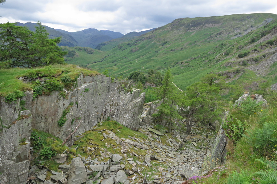 Castle Crag's top quarry