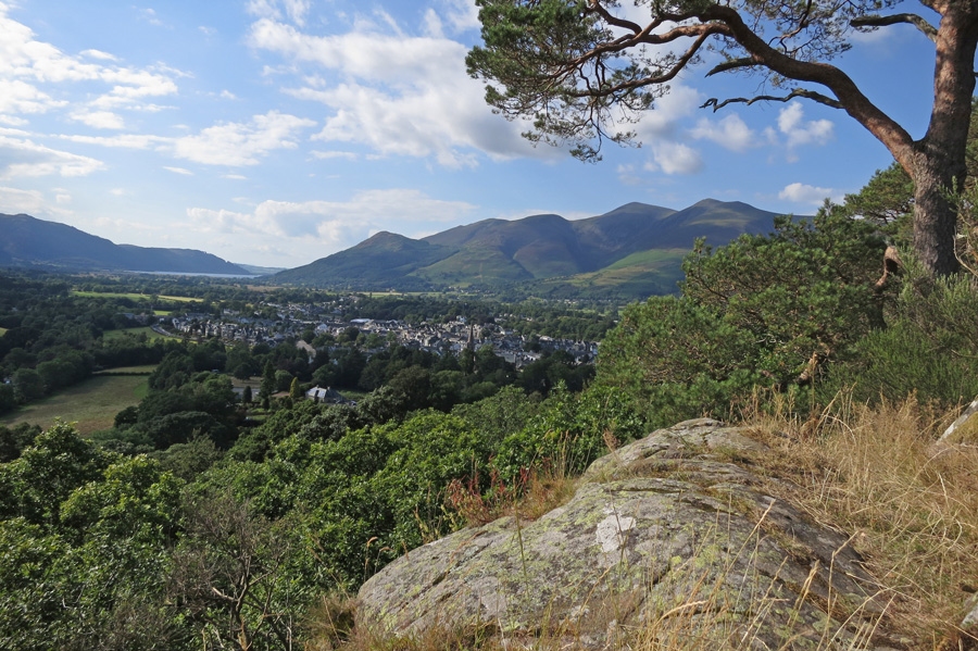 Over Keswick to the Skiddaw fells from Castle Head