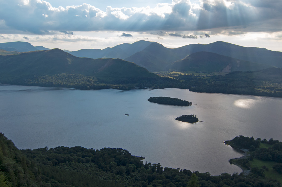 Derwent Water and the north western fells from Walla Crag