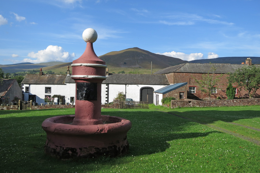 Dufton Pike from the fountain in the village of Dufton