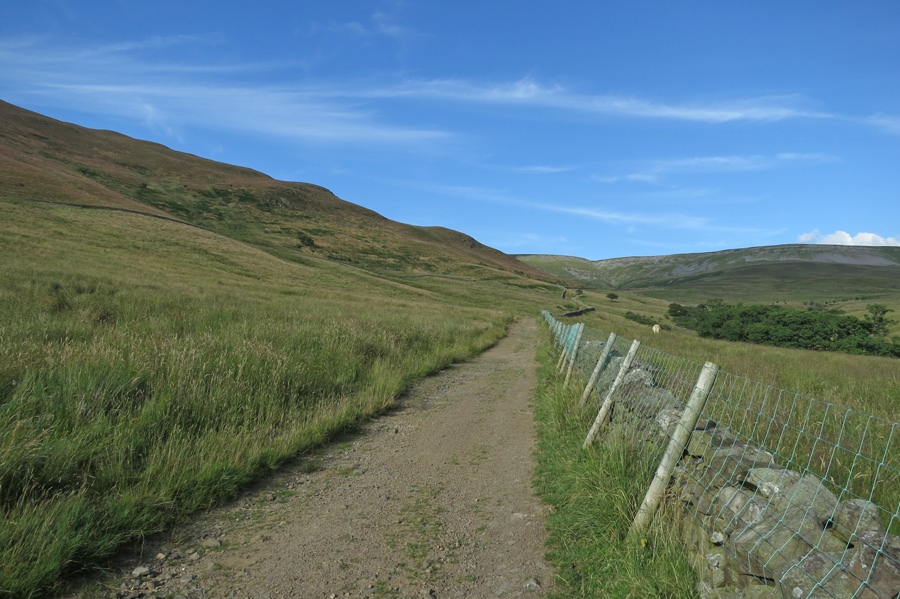 The track up onto High Scald Fell
