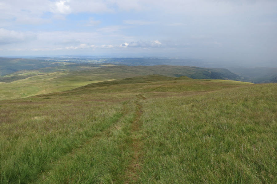 The view east as we leave Selside Pike's summit