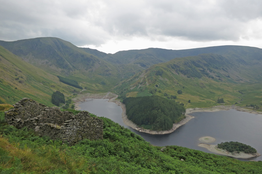 Mardale Head (Harter Fell, Mardale Ill Bell and The Rigg, Rough Crag onto High Street)