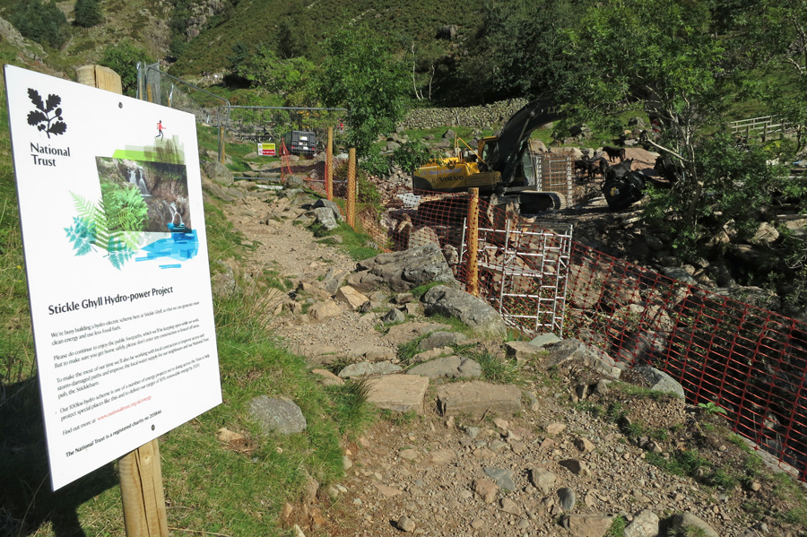 Work is underway on the Stickle Ghyll Hydro-power Project