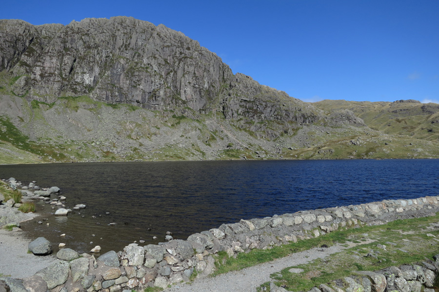 Looking across Stickle Tarn to Pavey Ark