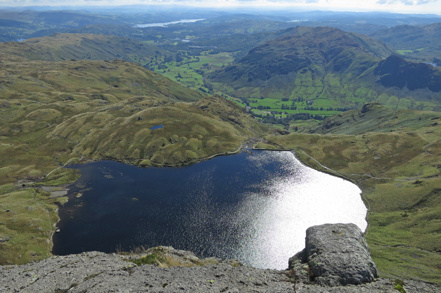 Stickle Tarn from the top of Pavey Ark