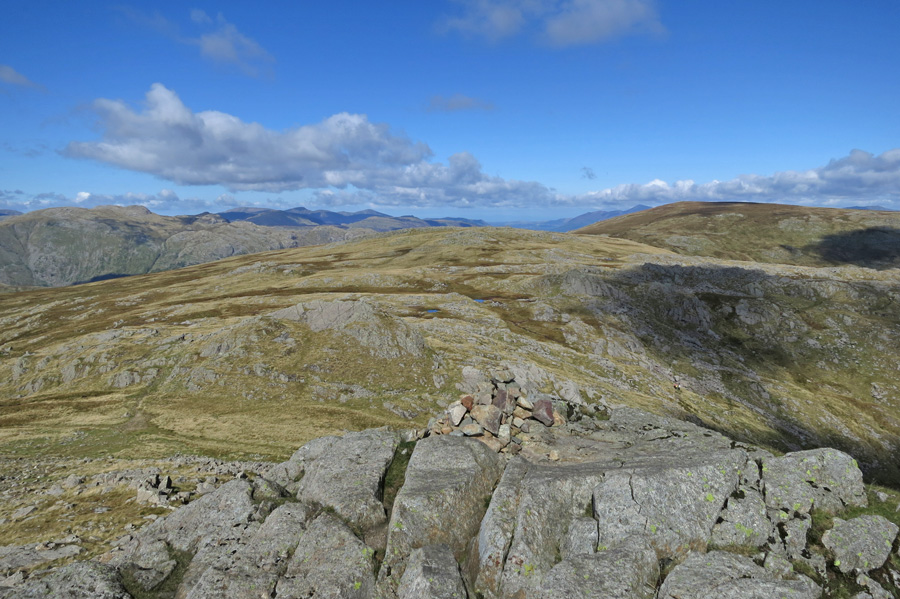The view north from Harrison Stickle's summit