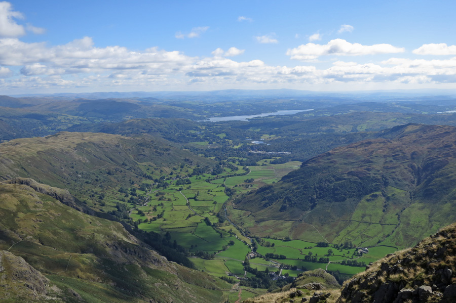 Great Langdale and Windermere in the distance