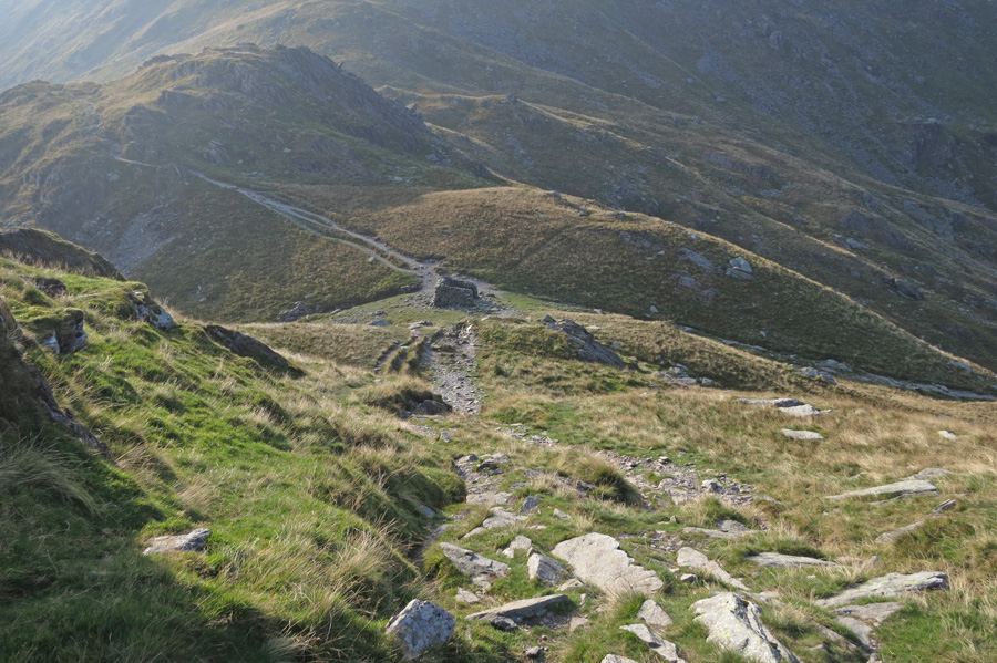 Nan Bield Pass as I start up the ridge to Harter Fell