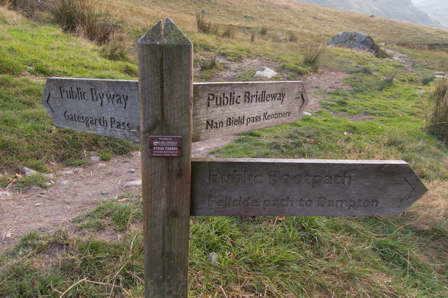 Why does the sign say Gatesgarth (which is near Buttermere) and not Gatescarth?