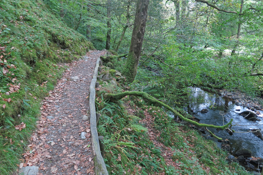 Path by the River Rothay as we head for Grasmere