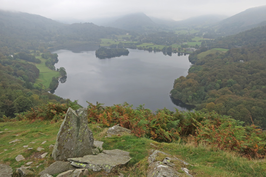 Grasmere as we ascend Loughrigg Fell