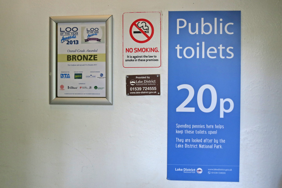 Buttermere Public Toilets - Now you pay to pee. How much would it be if they were Gold standard?