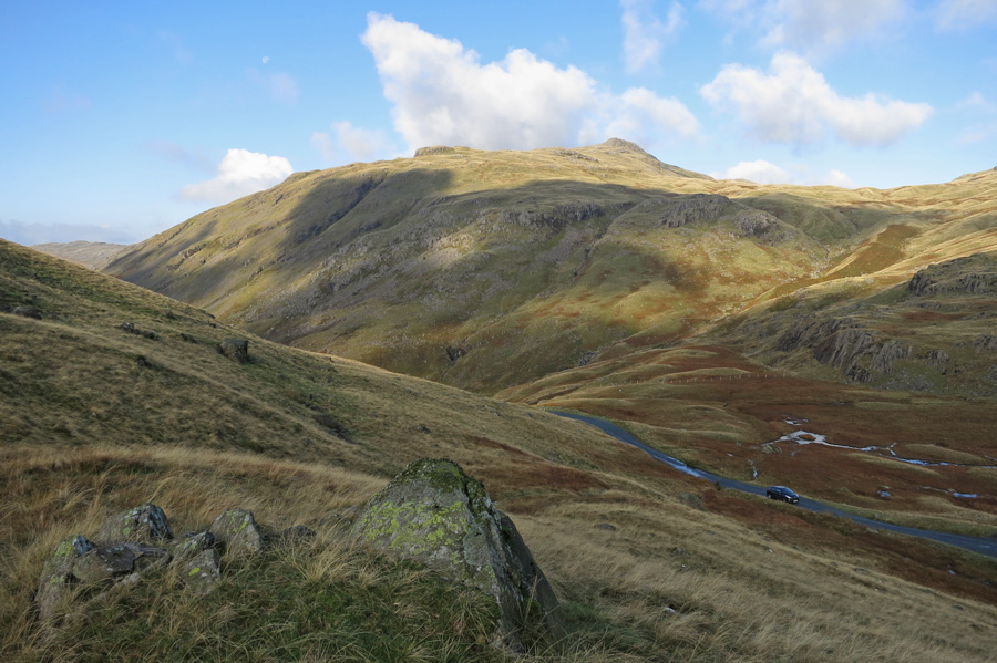Looking over Wrynose Pass to Cold Pike