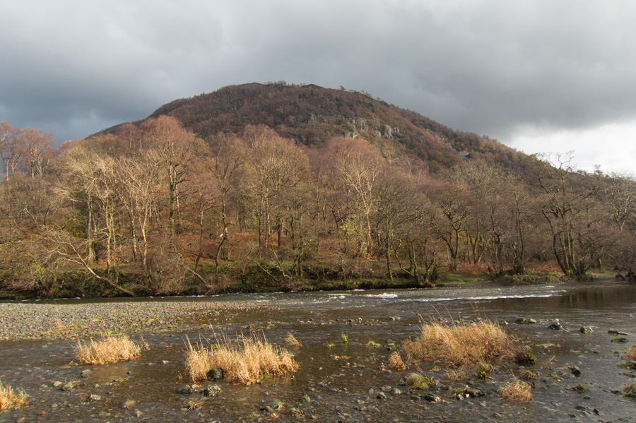 Looking across the River Derwent to Grange Fell