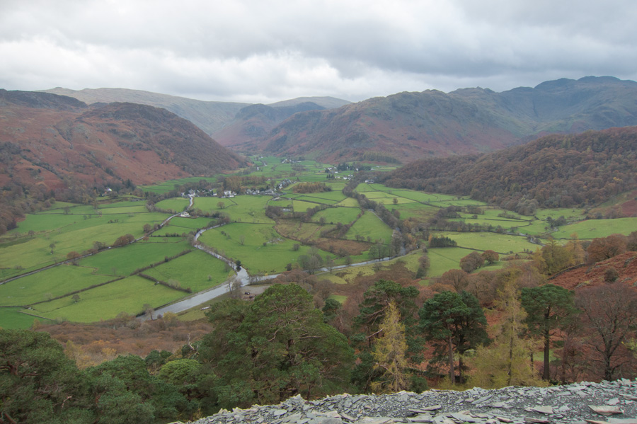 Looking towards Rosthwaite and Stonethwaite