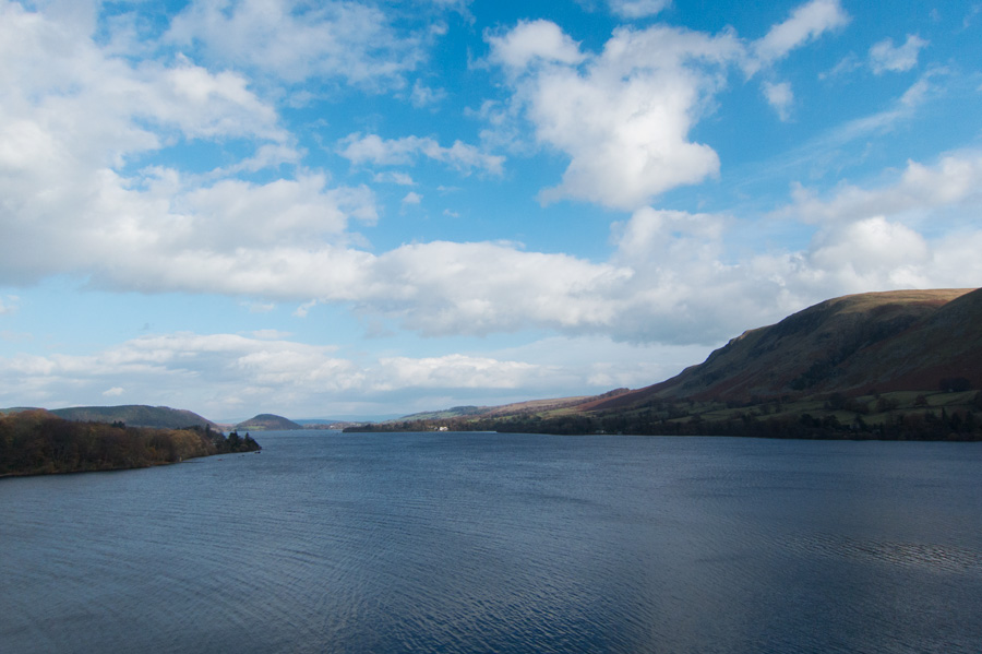 The view down Ullswater