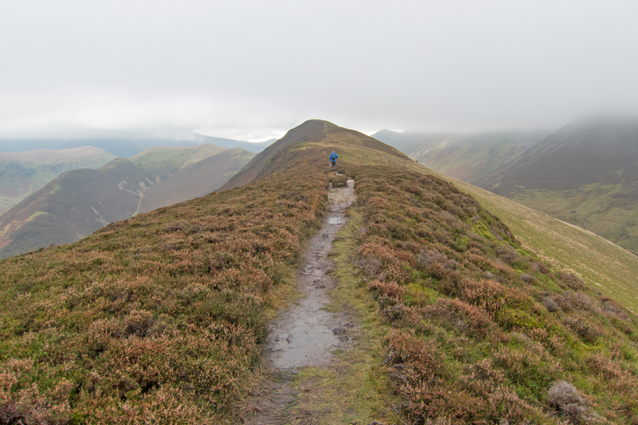 Heading for Ard Crags summit