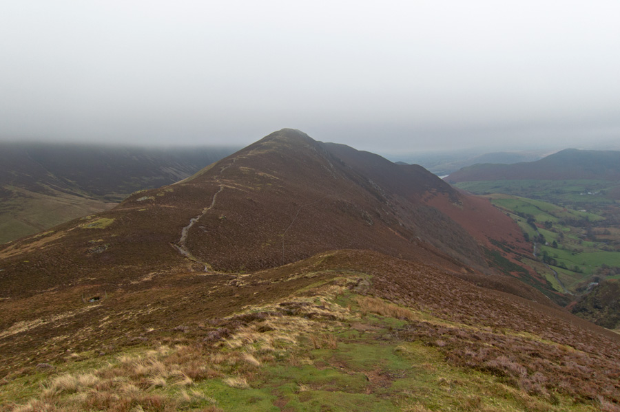 Looking back to Ard Crags