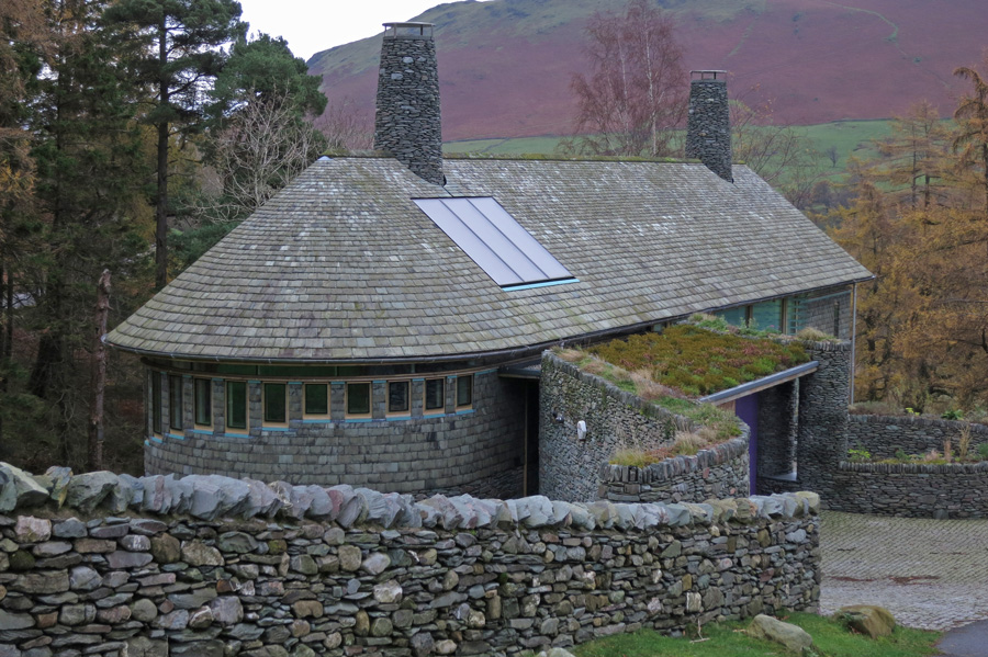 Rigg Beck, once the site of the [[Photo:181|1472|Purple House]] which was destroyed by fire in June 2008