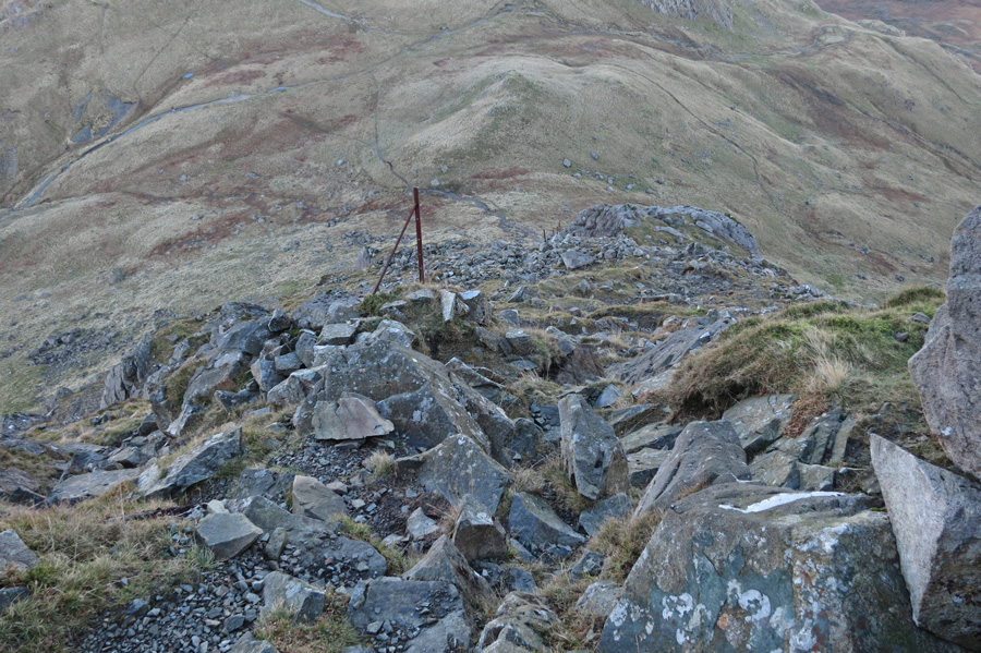 Looking back down on Black Sail Pass