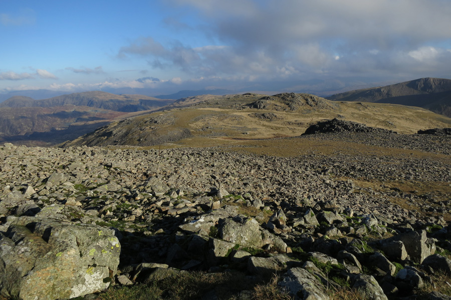 Looking across to Kirk Fell's east top from the main top