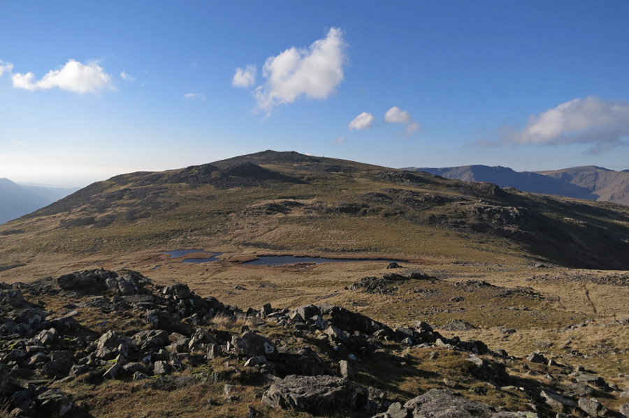 Looking back to Kirk Fell's summit from the east top