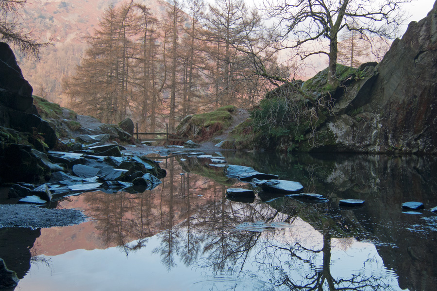 Looking out of Rydal Cave