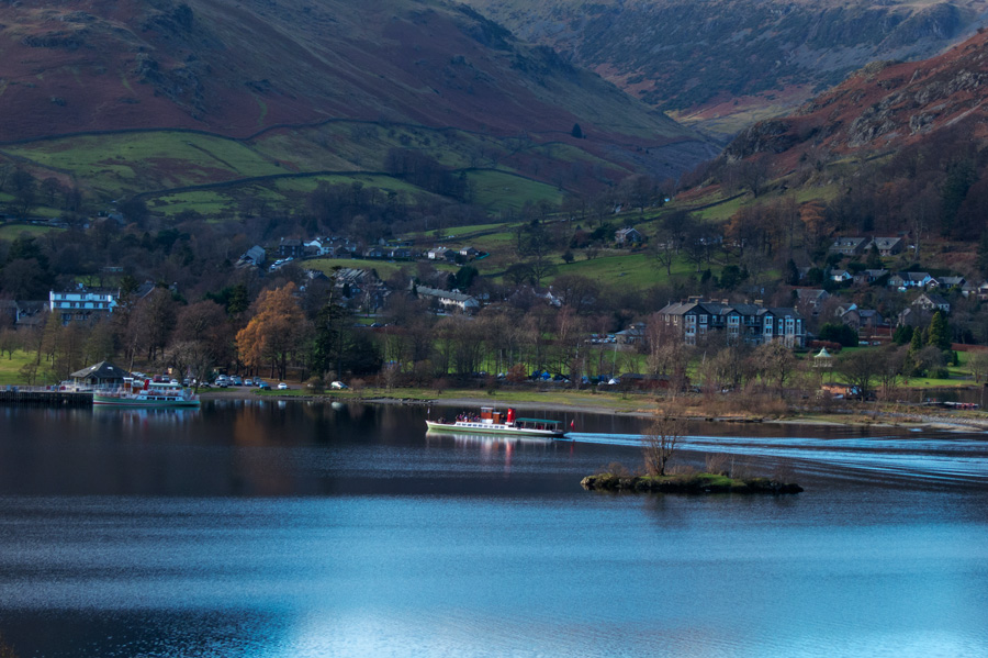 The Lady of the Lake approaches Glenridding