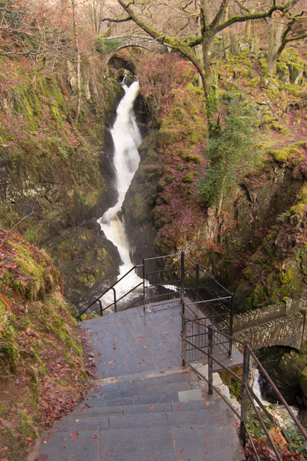 Aira Force from the repaired steps