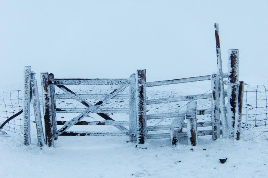The top gate as I head back down