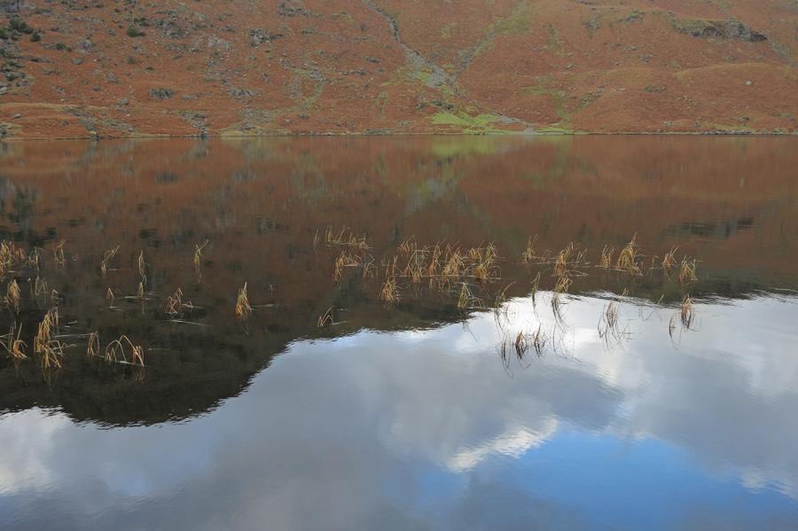 Tarn Crag reflecting in Easedale Tarn