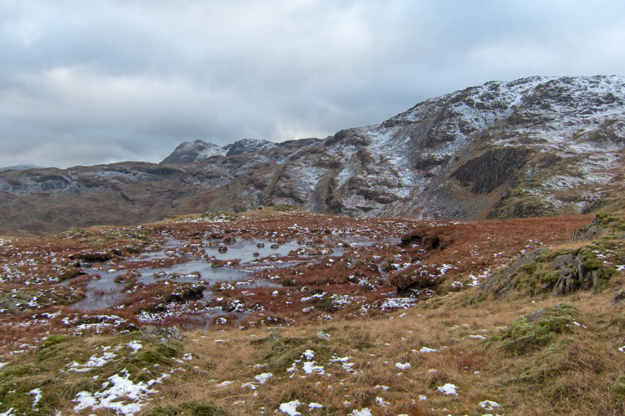 Harrison Stickle peeps out in the distance