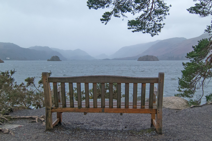 The view south up Derwent Water from Friar's Crag