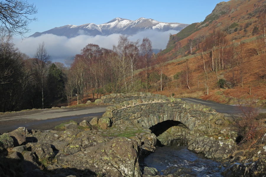 Skiddaw from Ashness Bridge