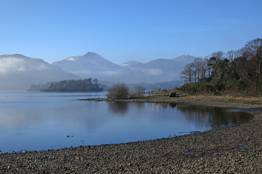 Looking across to Causey Pike from Calfclose Bay