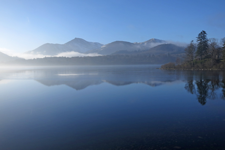 The north western fells across Derwent Water