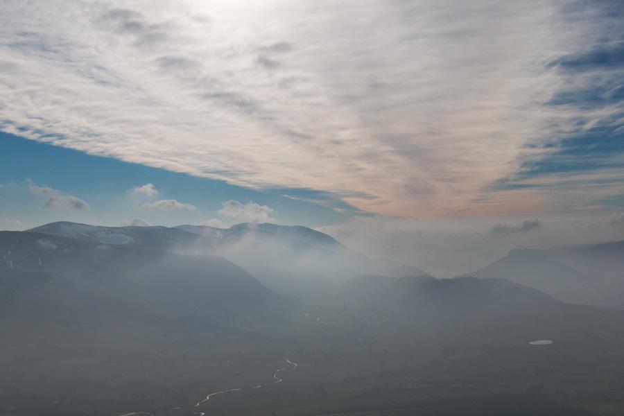 South into the haze