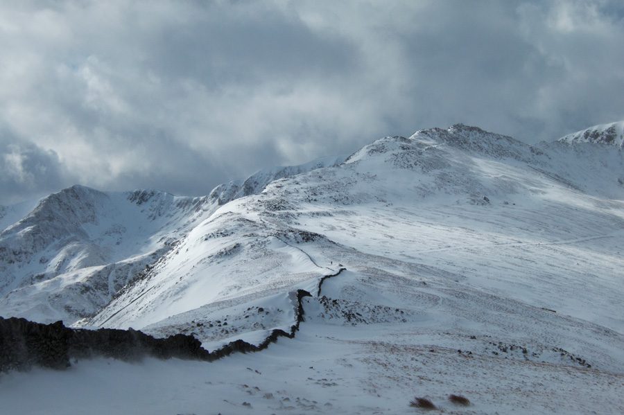 The wall to Striding Edge