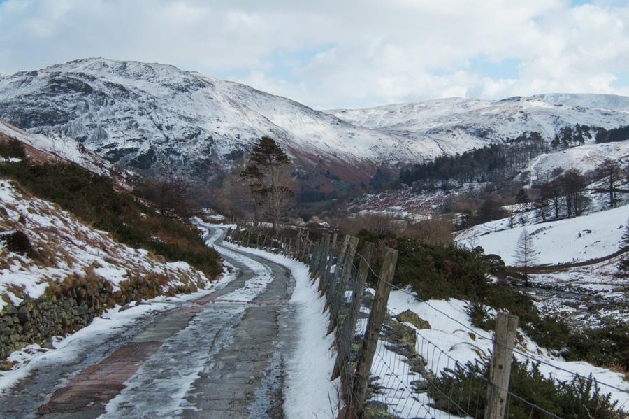 Greenside Road back to Glenridding village