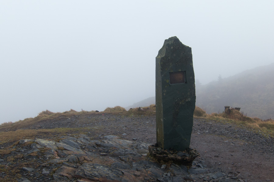Dodd's summit, no view today