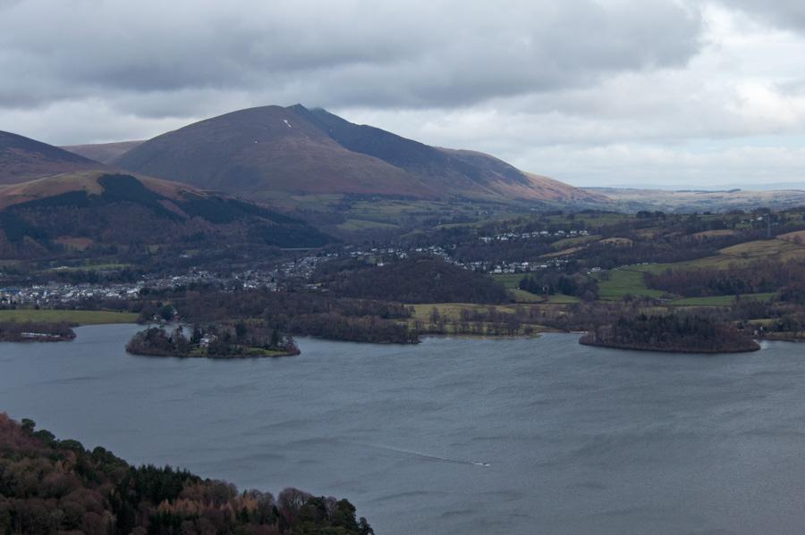 Looking across Derwent Water to Blencathra
