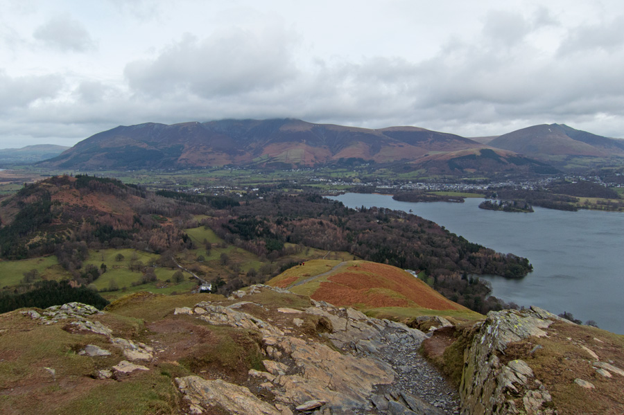 The view north to the Skiddaw fells