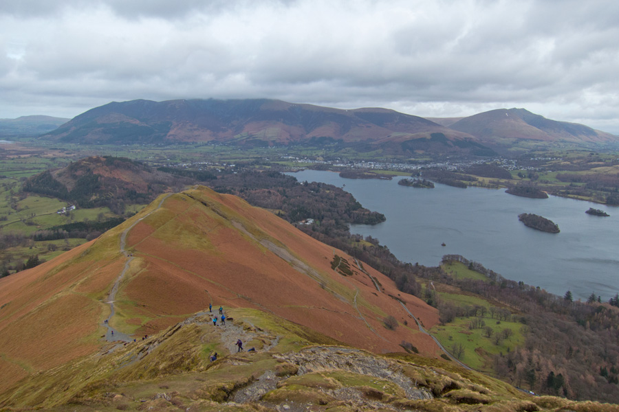 Looking over Skelgill Bank to Skiddaw