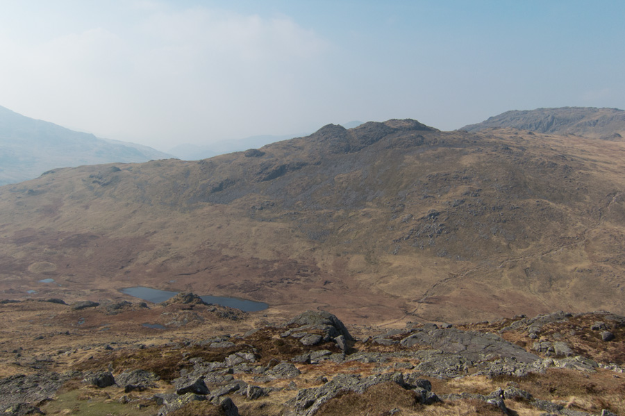 Looking over Red Tarn to Cold Pike
