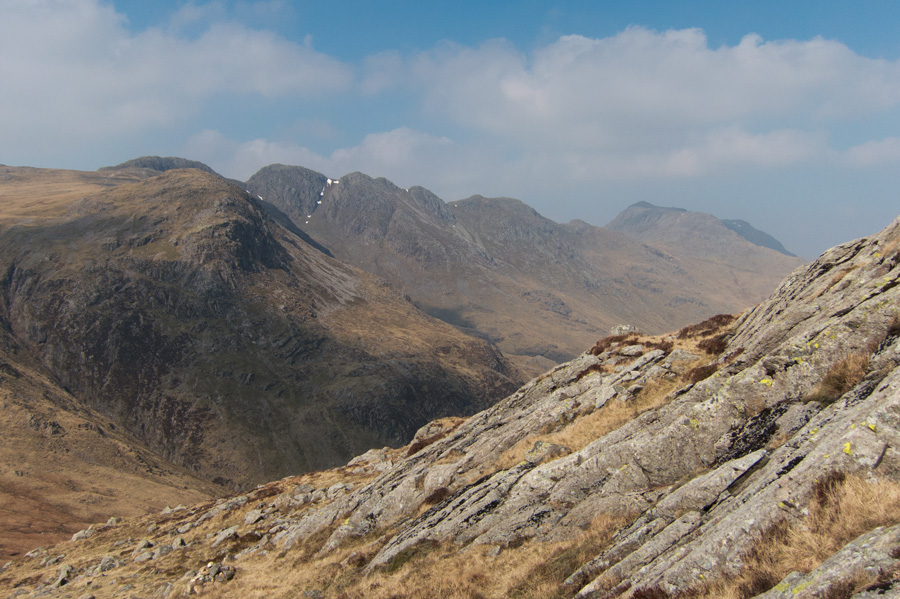 Great Knott, Crinkle Crags and Bowfell