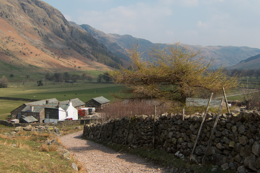 Approaching Stool End Farm