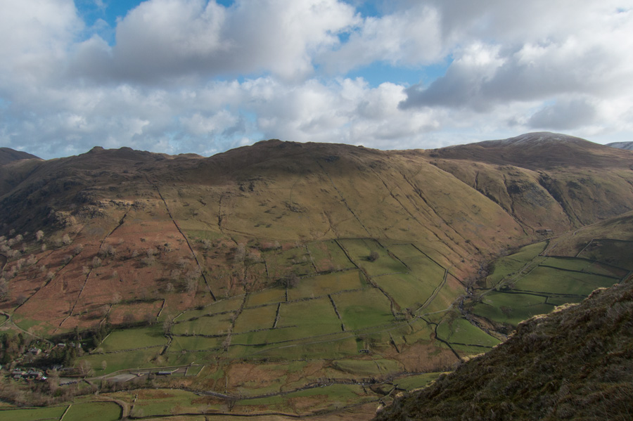 Looking across to Angletarn Pikes, Brock Crag and Rest Dodd