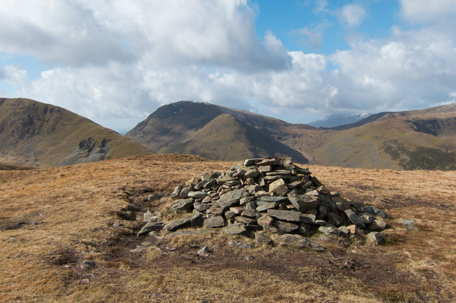 Middle Dodd with Red Screes behind from Hartsop Dodd's summit cairn