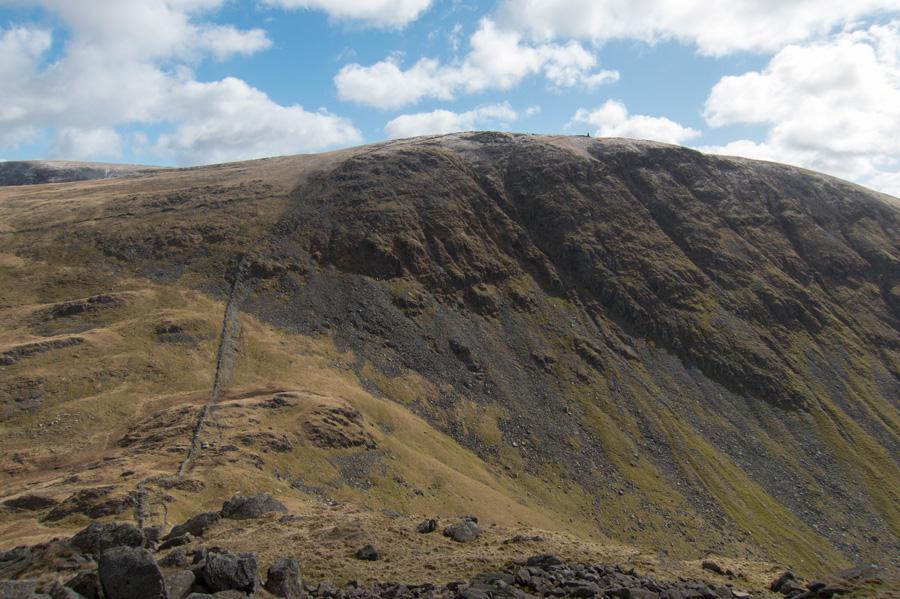 Looking across Threshthwaite Mouth to Thornthwaite Crag